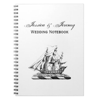 Heraldic Vintage Nautical Clipper Ship Crest Notebooks