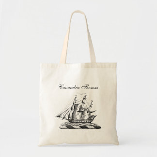 Heraldic Vintage Nautical Clipper Ship Crest Tote Bag