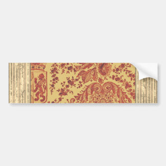 Heraldry Lace Bumper Sticker