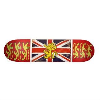 Heraldry Lion Vintage Union Jack Skate Board Deck
