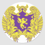 Heraldry Round Sticker