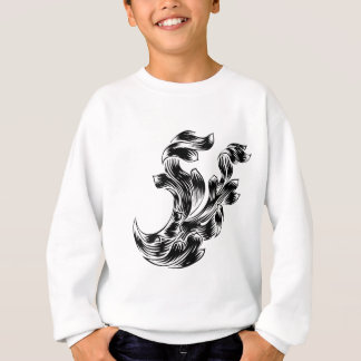 Heraldry Scroll Floral Filigree Design Sweatshirt