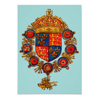 Heraldry with Crown Card