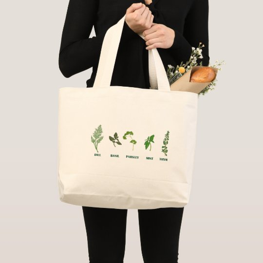 Herb Collection Large Tote Bag
