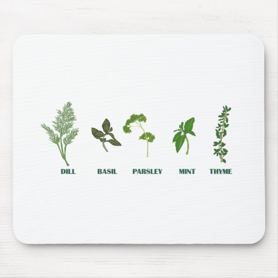 Herb Collection Mouse Pad