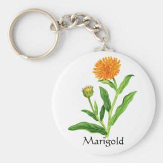 Herb Garden Series - Marigold Key Ring