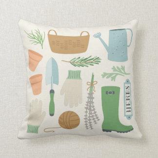 Herb Garden Throw Cushion