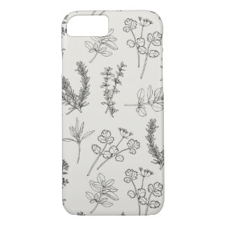 Herb LineArt iPhone 7 Case