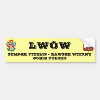 herb lwowa, LWWSEMPER FIDELIS - ZAWSZE WIERNYT... Bumper Sticker