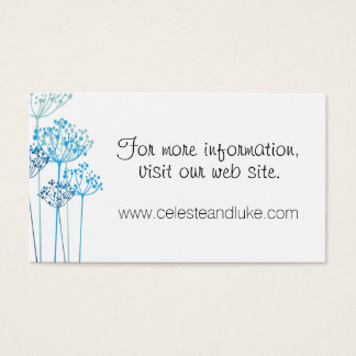 Herbal Rhapsody Wedding Info Business Card