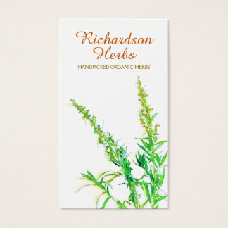 Herbalist Herb Organic Gardening Holistic Health Business Card