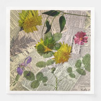 Herbarium Dinner Paper Napkins Disposable Napkin