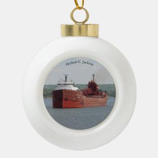 Herbert C. Jackson ball or snowflake ornament