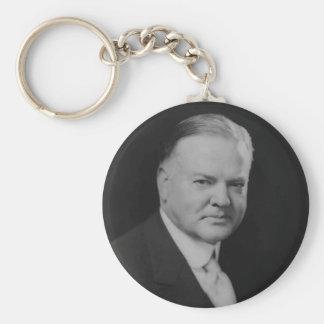 Herbert Hoover 31 Basic Round Button Key Ring