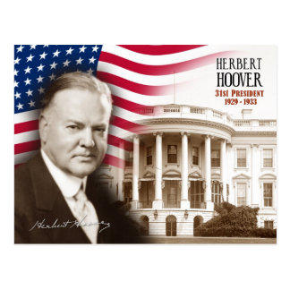 Herbert Hoover -  31st President of the U.S. Postcard