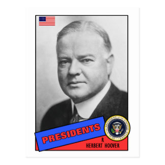 Herbert Hoover Baseball Card Postcard