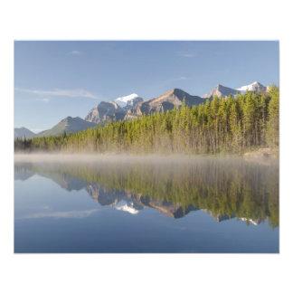 Herbert Lake at Icefields Parkway Alberta Canada Flyer