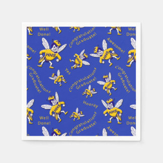 Herbie the Hornet Graduation Napkins Disposable Napkin