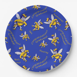 Herbie the Hornet Graduation Paper Plates