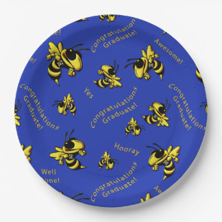 Herbie the Hornet Graduation Paper Plates