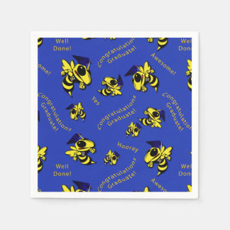 Herbie the Hornet w/Graduation Cap Napkins Paper Napkin