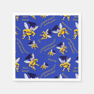 Herbie the Hornet w/Graduation Cap Napkins Paper Napkins