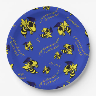 Herbie the Hornet w/Graduation Cap Paper Plates