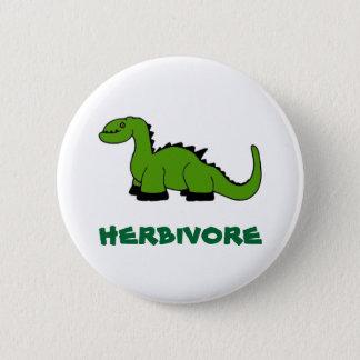 herbivore 6 cm round badge