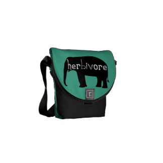 Herbivore - Elephant - Blue Courier Bag