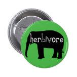 Herbivore - Elephant - Green 6 Cm Round Badge