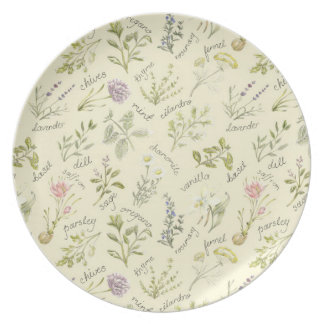 Herbs and Spice Melamine Plate