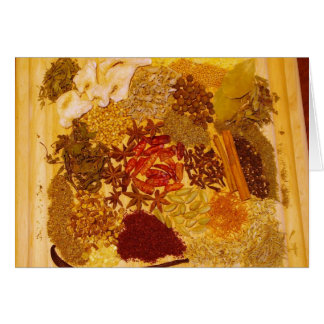Herbs and Spices Collage Greeting Card