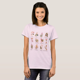 Herbs and Spices full color illustrations T-Shirt