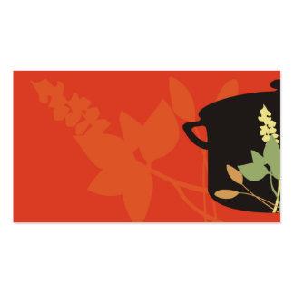 herbs cooking pot business card