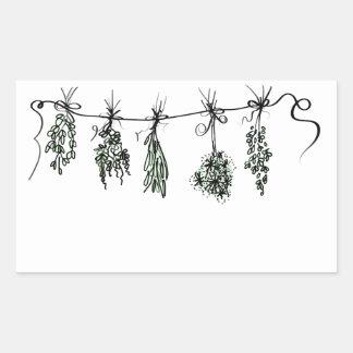 Herbs Rectangular Sticker