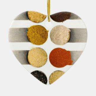 Herbs Spices & Powdered Ingredients Ceramic Heart Decoration