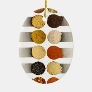 Herbs Spices & Powdered Ingredients Ceramic Oval Decoration
