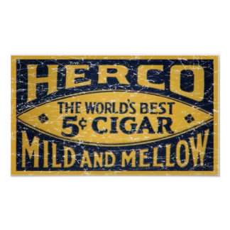Herco Cigar-1905 - distressed Poster