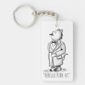 Hercule Purr-ot, Belgian Cat Detective Key Ring