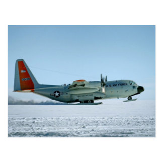 Hercules Aircraft Equipped with Snow Skis Postcard