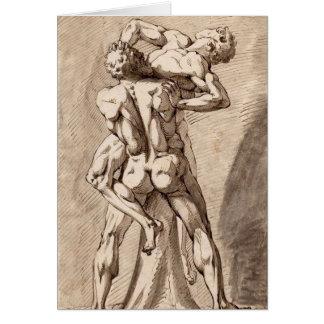 Hercules and Antaeus Card