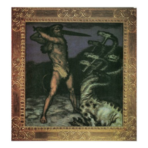 Hercules and the Hydra by Franz von Stuck Print