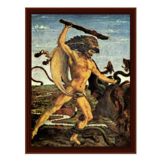 Hercules And The Hydra By Pollaiuolo Antonio Postcard