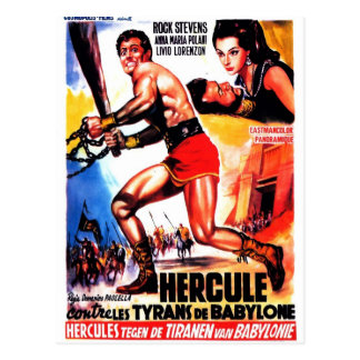 """Hercules and the Tyrants of Babylon"" Postcard"