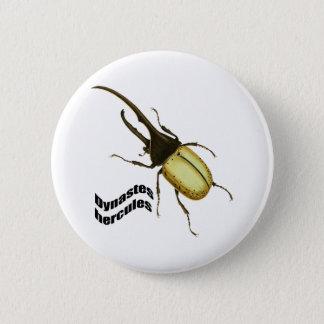Hercules Beetle 6 Cm Round Badge