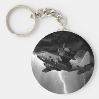 Hercules C-130 Basic Round Button Key Ring