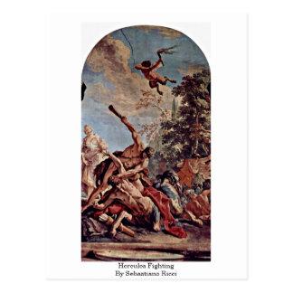 Hercules Fighting By Sebastiano Ricci Postcard