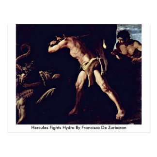 Hercules Fights Hydra By Francisco De Zurbaran Postcard