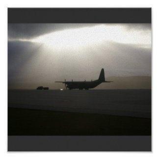 Hercules in the Falklands Sun. Poster