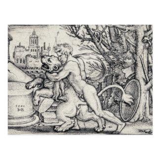 Hercules Killing The Nemean Lion Postcard